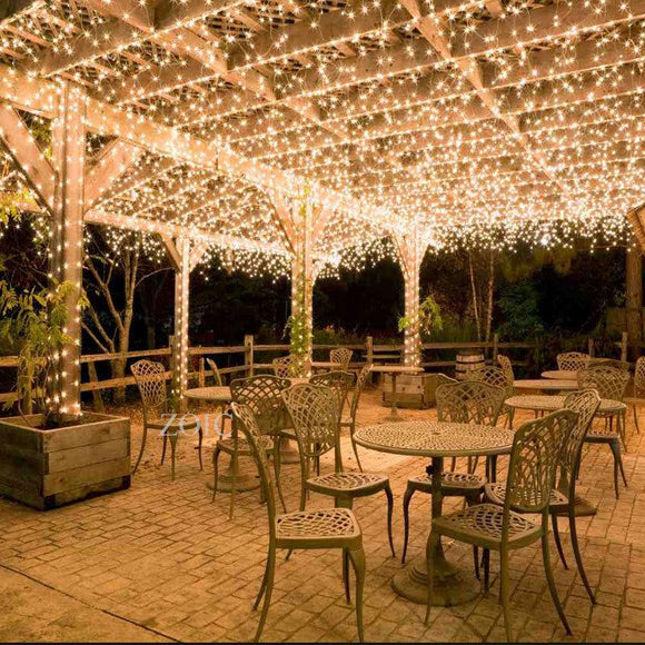 String Fairy Lights Waterproof 500 LED 100m Warm White Outdoor Christmas Party Wedding Garden