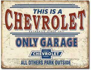 CHEVROLET ONLY  Garage Tin Metal Sign Man Cave Bar