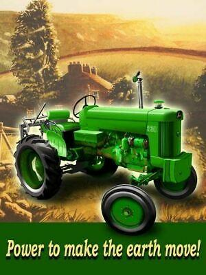 John Deere make the earth move Metal Sign 30 x 40 cm