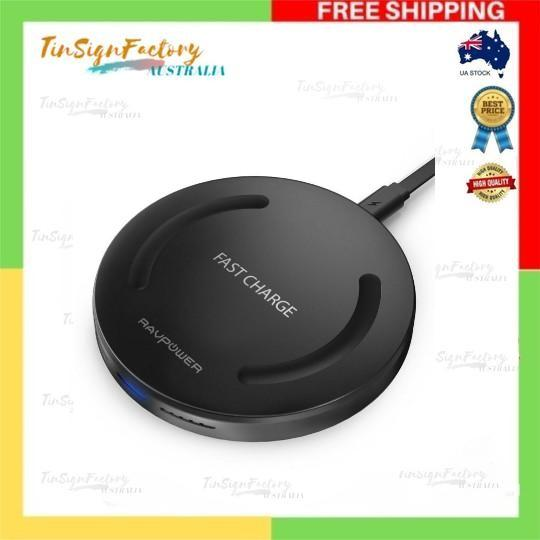 Wireless Charger RAVPower Qi-Certified Fast Wireless Charging Pad,10W Quick Charge for for iPhone Xs/XR/XS Max/8/8 Plus, Galaxy S9/S9+/S8 /S8+ /S7 and All Qi-Enabled Device