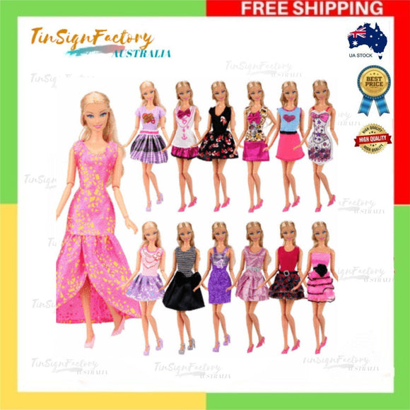 Barwa 12-Pack Fashion Mini Dresses Clothes Outfits Sets Mix Styles &Color Random