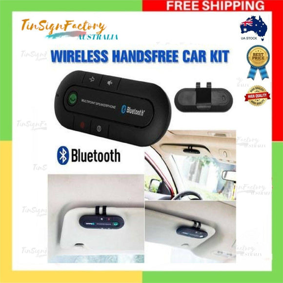 Bluetooth Car Kit Wireless Speakerphone Handsfree  Mic For Phone AU Stock