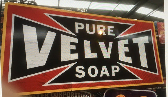 VELVET SOAP 3 PIECE TIN METAL SIGN