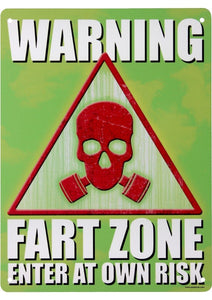 Warning Fart Zone Enter At Own Risk Mini Tin Sign 30 x 40 cm - TinSignFactoryAustralia