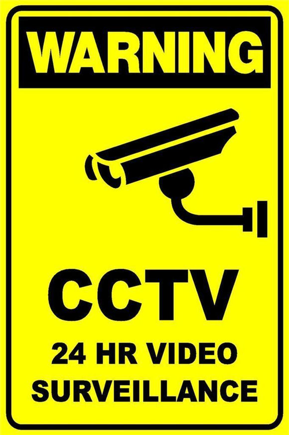 WARNING SIGN Metal SECURITY CAMERA CCTV metal sign 20 x 30 cm free postage - TinSignFactoryAustralia