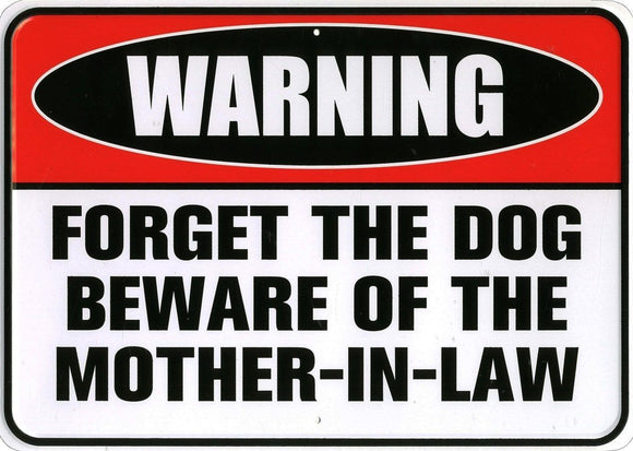 Beware Of The Mother In Law Metal Tin Sign free postage 30 x 40 cm