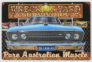 ZB Fairlane Rustic Look  Tin Metal Sign  Man Cave  Quality Handmade