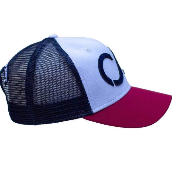 Red, white, blue Industrial Canvas Mesh Cap