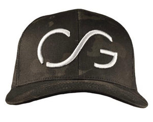 Camo Classic SNAPBACK -multi-cam base/black mesh back with Gray CG 3D embroidery
