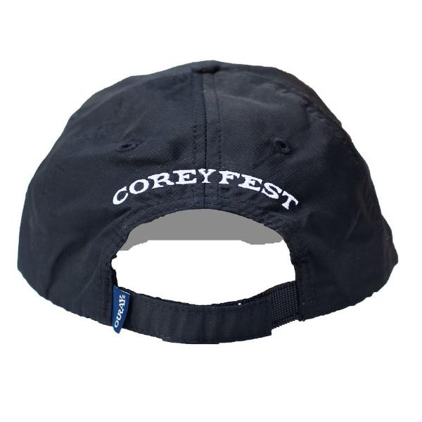 Black athletic hat with White direct 3D embroidery CG