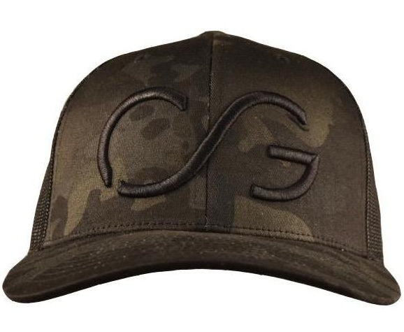 Camo Classic SNAPBACK -multi-cam base/black mesh back with Black CG 3D embroidery