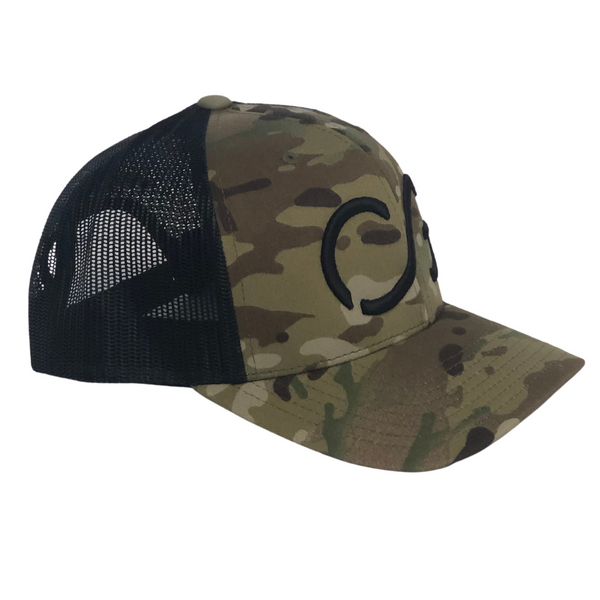 Classic Multicam green Snapback with Black mesh and Black CG