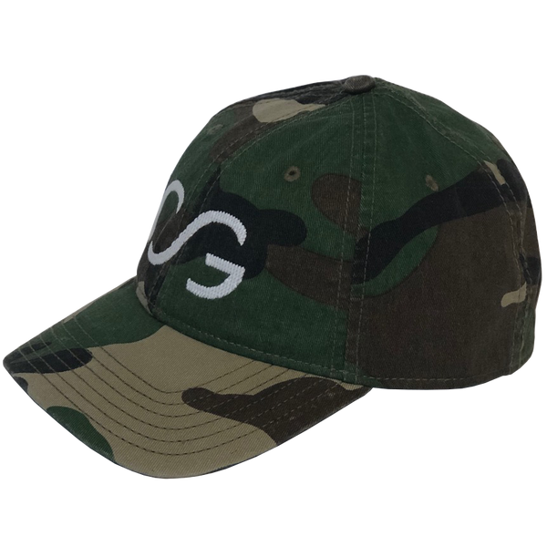 Camo with White Needlepoint Embroidered CG