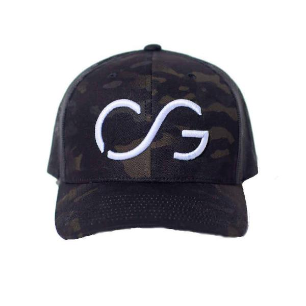 Camo Classic SNAPBACK -multi-cam base/black mesh back with White CG 3D embroidery