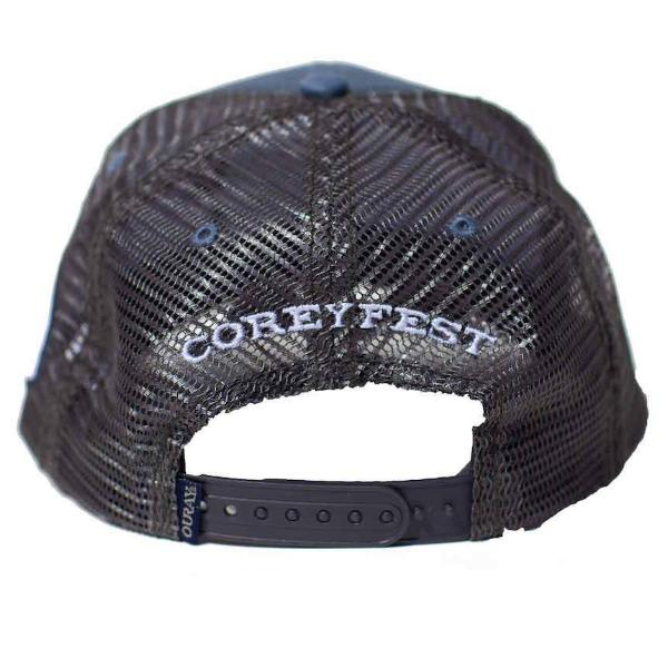 Steel/dark grey mesh with white direct 3D embroidery CG