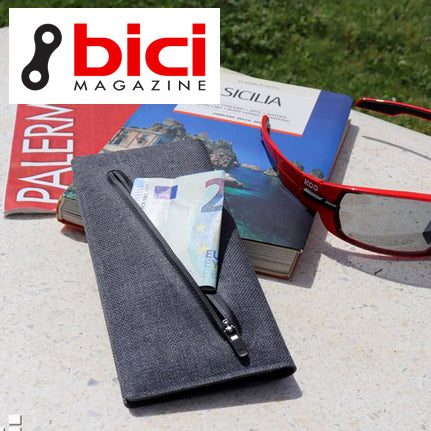 Mille grazie bici Magazine for testing the Zilfer Cycling Wallet