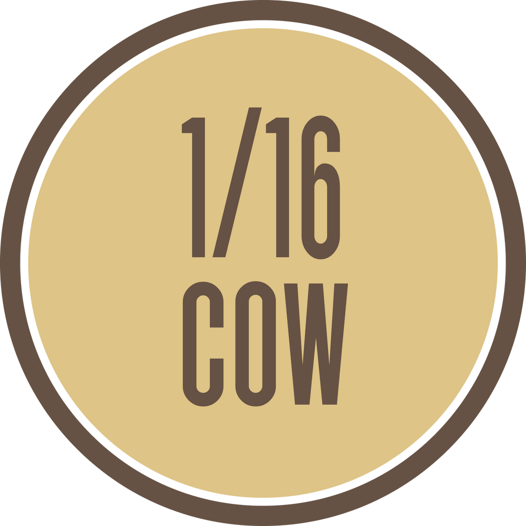 16th of a Grass-Fed Cow - $399 all costs covered including Free Shipping