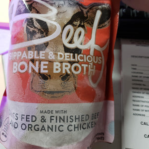 Fresh Grass-Fed Beef and Chicken Broth