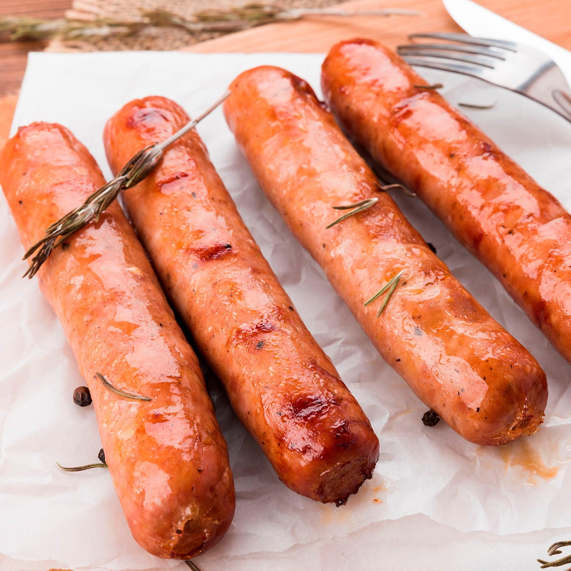 Elk Sausage Links with Apples, Pears and Port Wine