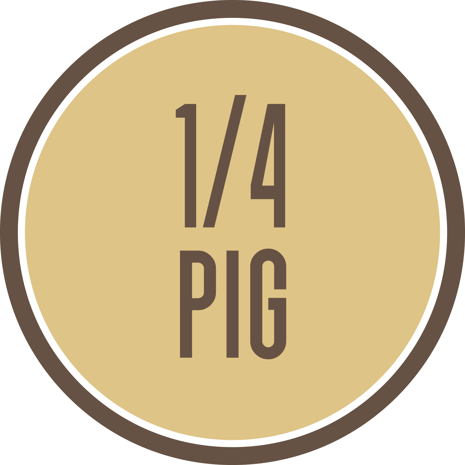 Quarter Pastured Heritage Pig - $449 all costs covered including Free Shipping