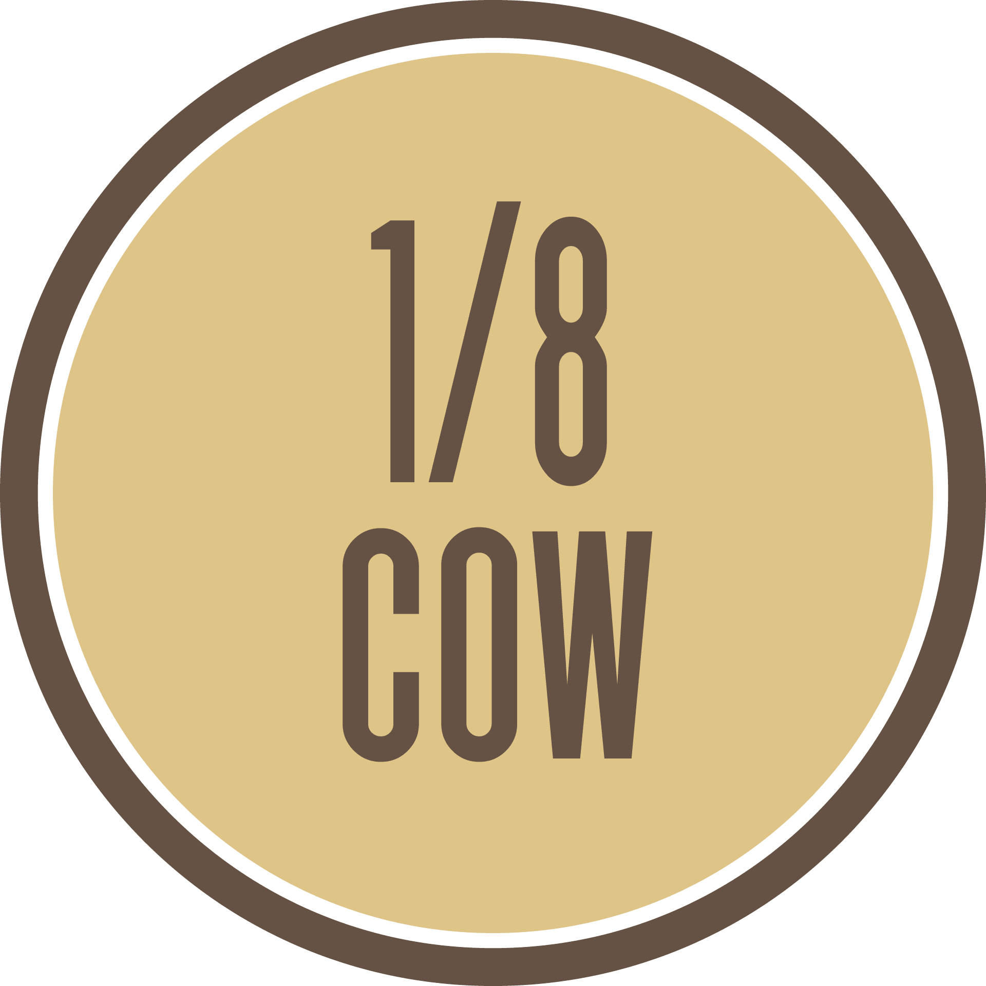 8th of a Grass-Fed Cow - $549 all costs covered including Free Shipping