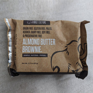 Paleo Almond Butter Brownies (Grain Free, Gluten Free, Preservative Free)