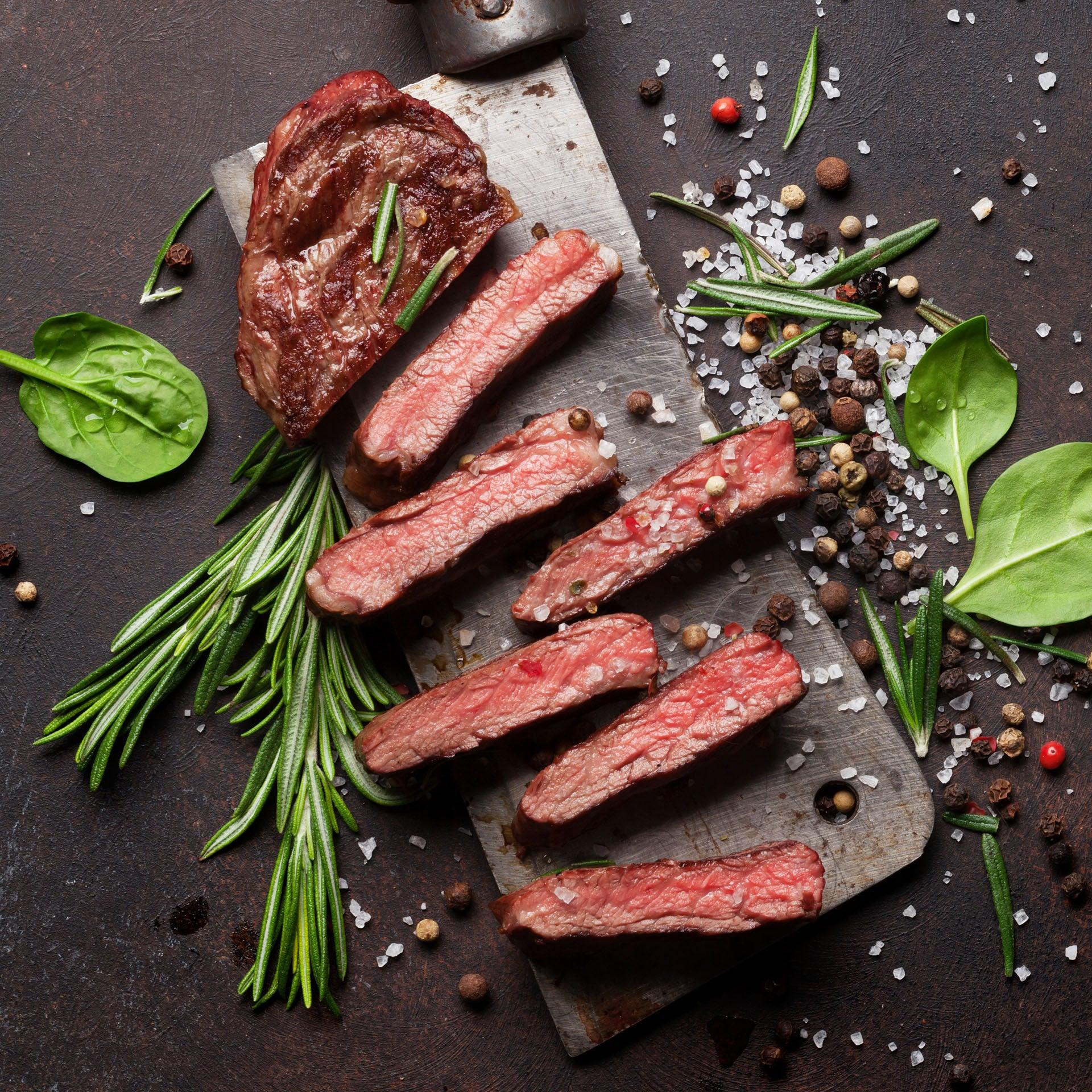Grass-Fed Beef Lean Premium Steaks - $119 for 12 Steaks Free Shipping