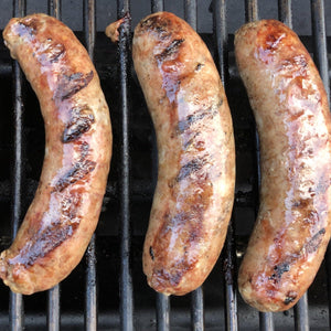 Smoked Duck Sausage Links with Apple Brandy