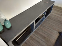 Charcoal Concrete Entertainment Unit
