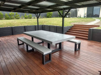 Concrete Dining Table package - Steel Loop legs