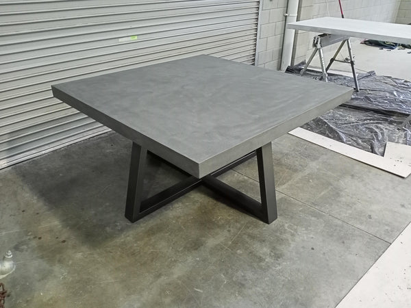 Square Concrete Dining Table