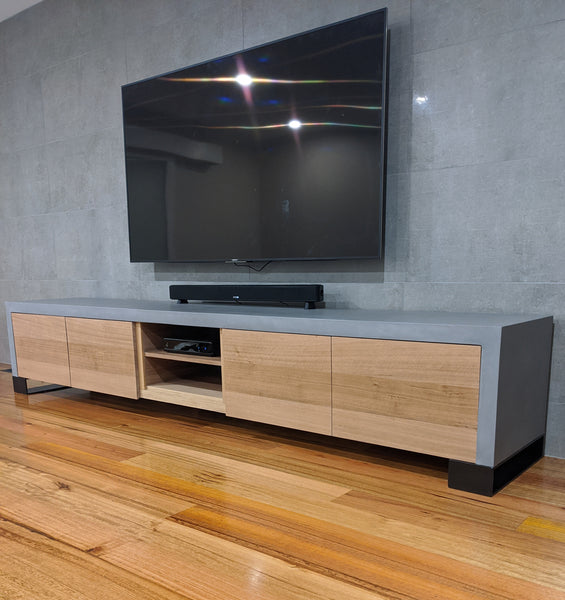Concrete and steel Entertainment Unit - TV Unit 2400