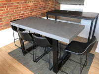 Concrete Bar Table - Steel Loop legs