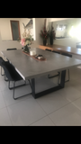Concrete Dining Table - Boardroom table Steel legs