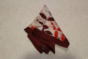 Leafy Affair Wine Red-Pocket Square-Kairos Trinkets