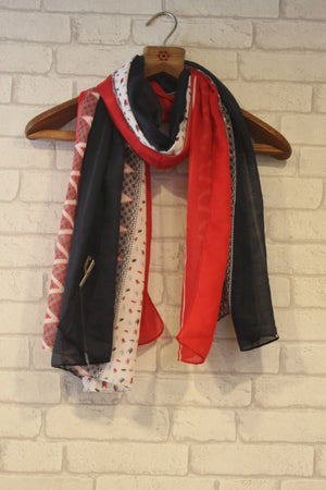Nautical Stripes Scarf-Scarves-Kairos Trinkets