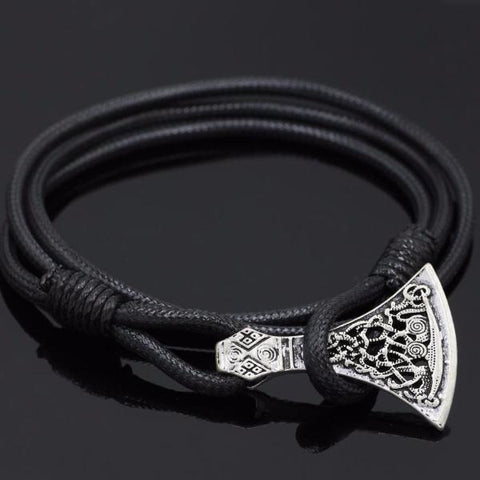 Mammen style axe in a leather bracelet