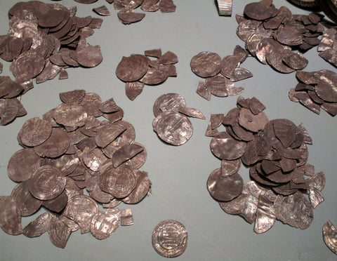silver coins from the Viking Spillings hoard
