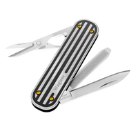 SPACECADET with connector , Silver pin-stripe