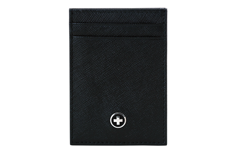 MONEYCLIP,  Black Saffiano