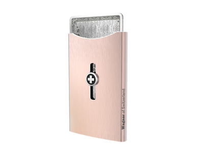 SWISS WALLET ICE, Cardholder Money-clip, brushed rose