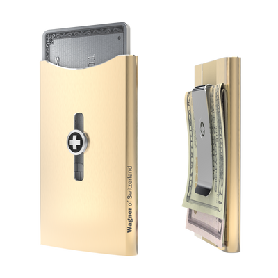 SWISS WALLET ICE, Cardholder Money-clip, champagne