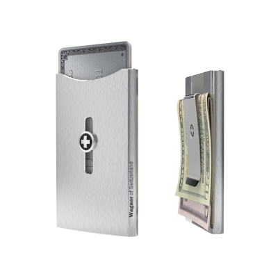 SWISS WALLET ICE, Cardholder Money-clip, black
