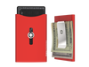 SWISS WALLET ORIGINAL, Cardholder with Money clip, red