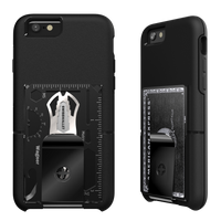 TOOLCARD WALLET with connector, Black Ice
