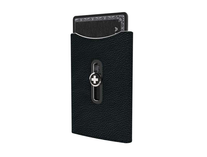 SWISS WALLET SKIN, black on black