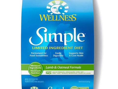 Wellness ® Simple Solutions™ Limited Ingredient Lamb & Oatmeal Formula Dry  26lb Dog Food
