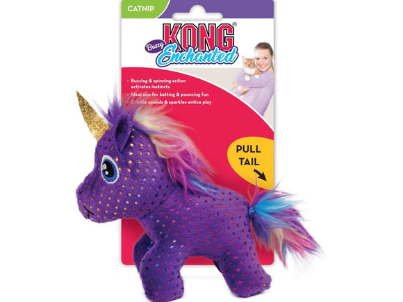 KONG ® Enchanted Buzzy Unicorn Cat Toy