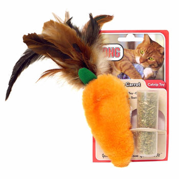 KONG ® Dr. Noy's Pet Toys Catnip Feather Top Carrot
