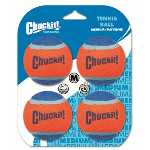 CHUCK IT! Tennis Ball 4 Pack Medium